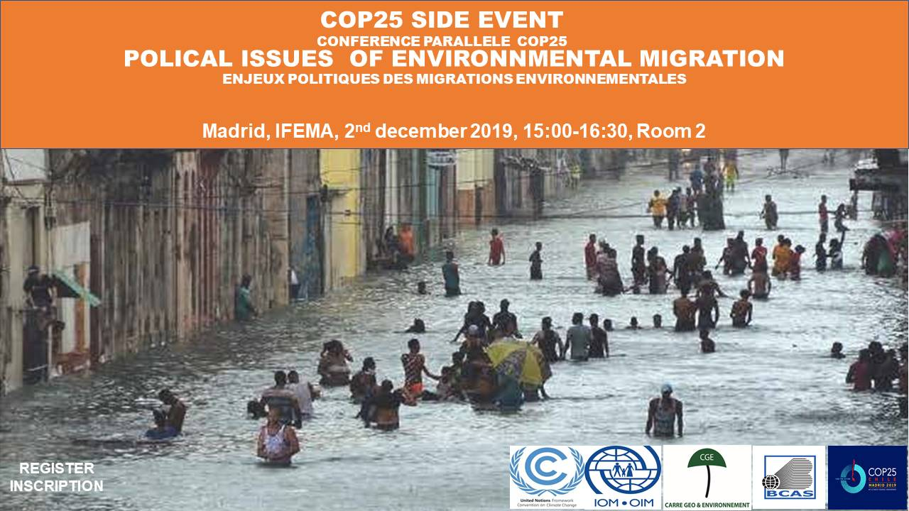 COP25 SIDE EVENT ON POLITICAL ISSUES OF ENVIRONMENTAL MIGRATION