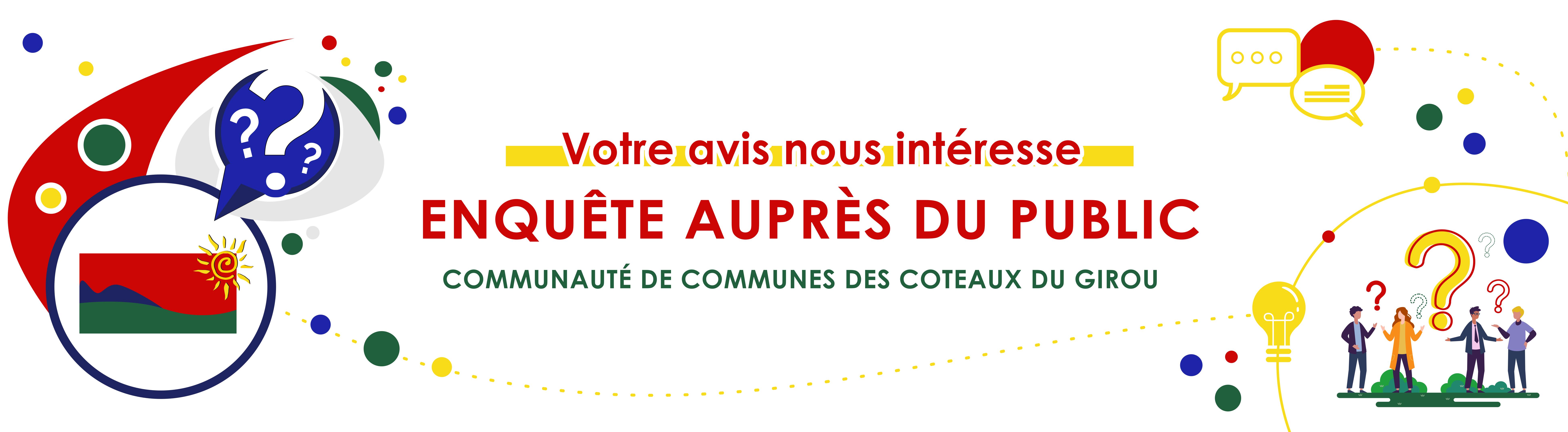 Votre avis nous intéresse, enquête auprès du public, Communauté de Communes des Coteaux du Girou