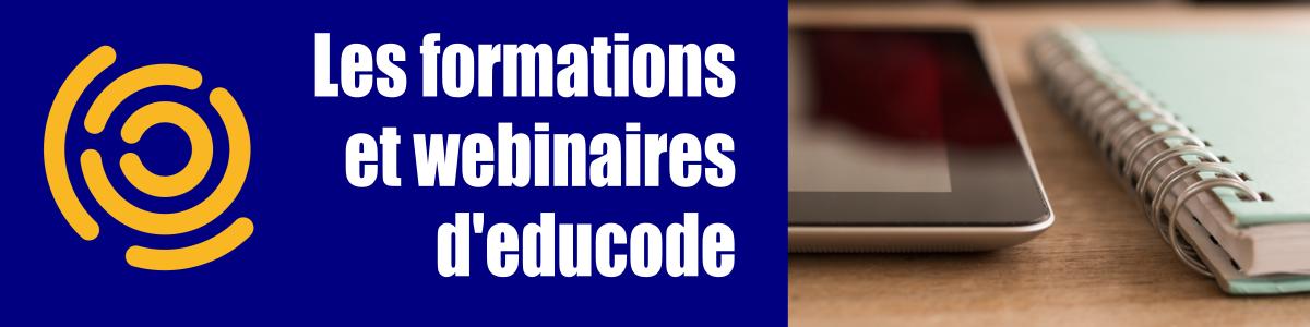 Image - Bannière - Les formations et webinaires d'educode