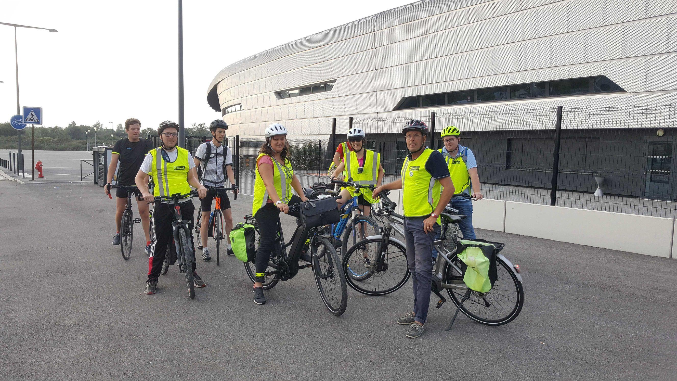 Cyclistes lors du Convoi vélo lors du Challenge mobilité 2019