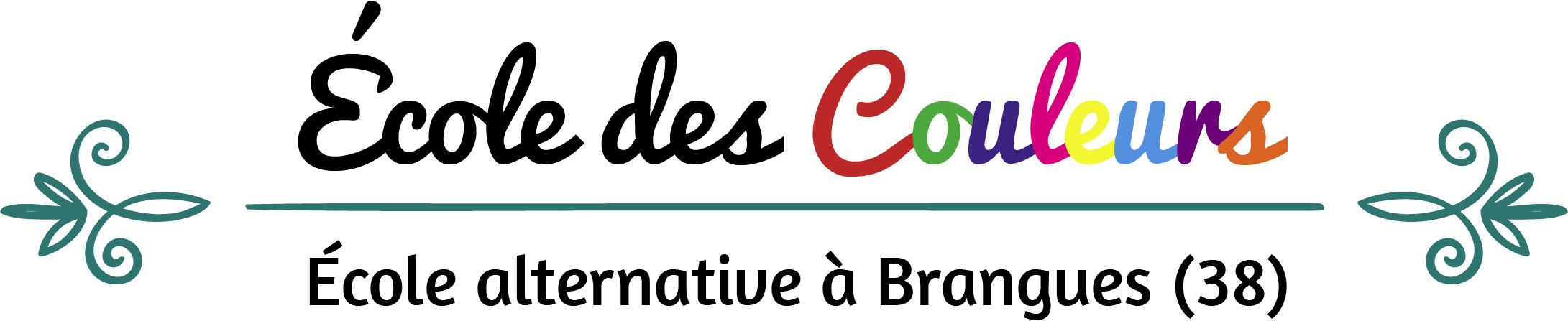 Logo Ecole des couleurs - Ecole alternative à Brangues dans l'Isère