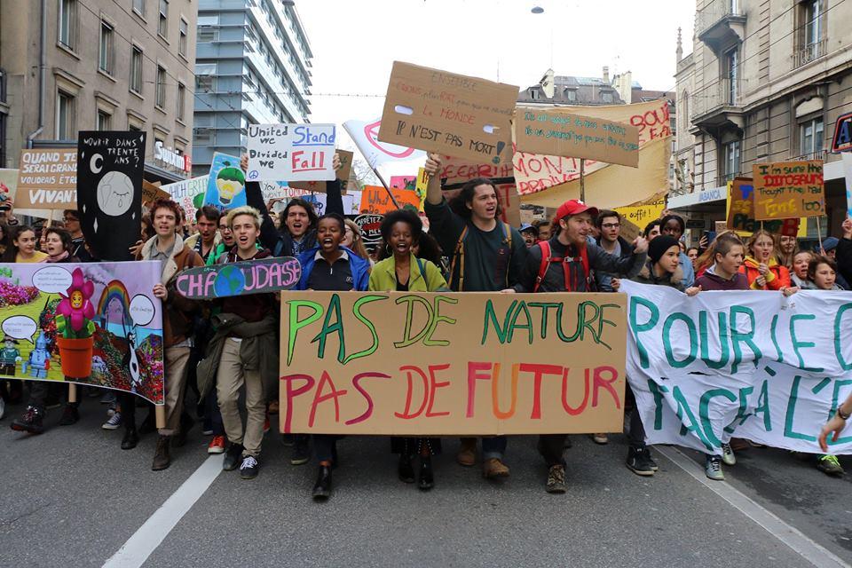 Jeunes manifestants de Genève, Suisse
