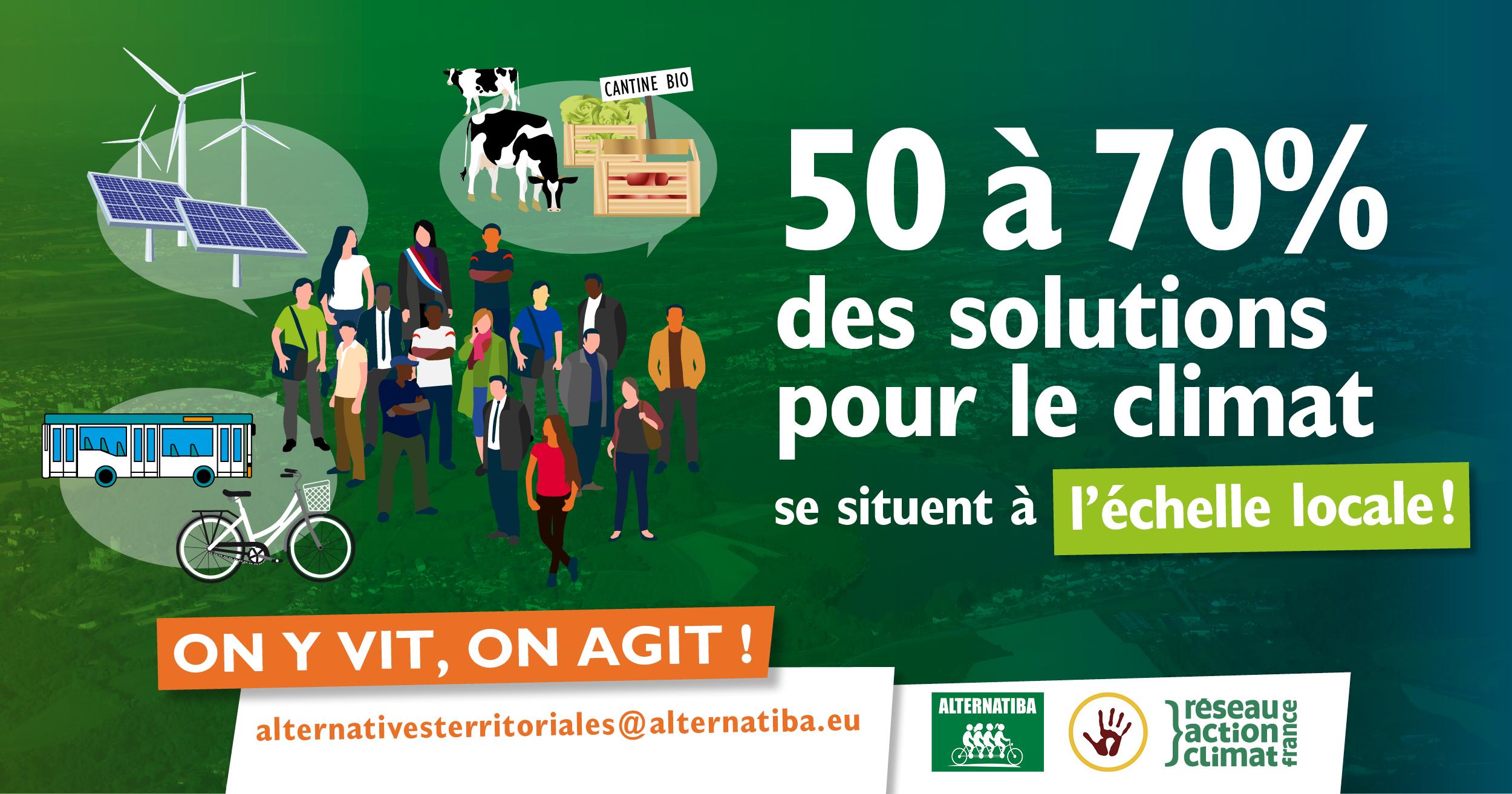 50 à 70% des solutions pour le climat se situent à l'échelle locale !