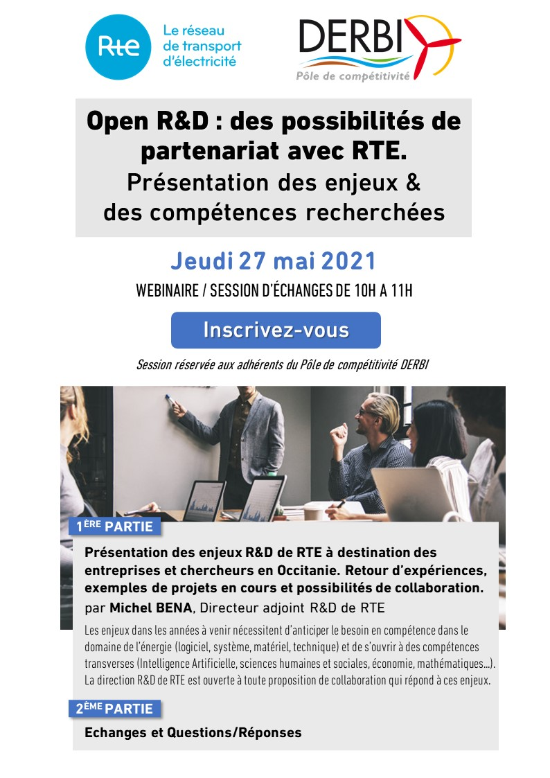 Session Open R&D de RTE : Jeudi 27 mai 2021
